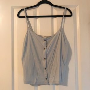 Urban Outfitters Blue Button Tank Top